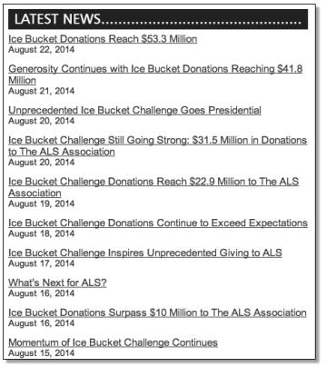 ALS Challenge Stats