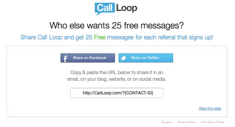 call loop referral