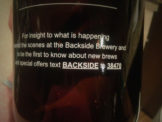 Backside Brewery SMS Marketing