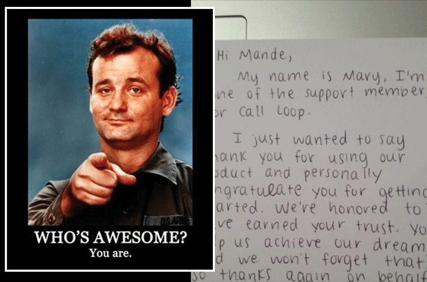 whos awesome thank you card