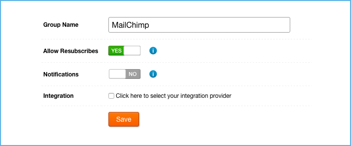 Call Loop Mailchimp Group