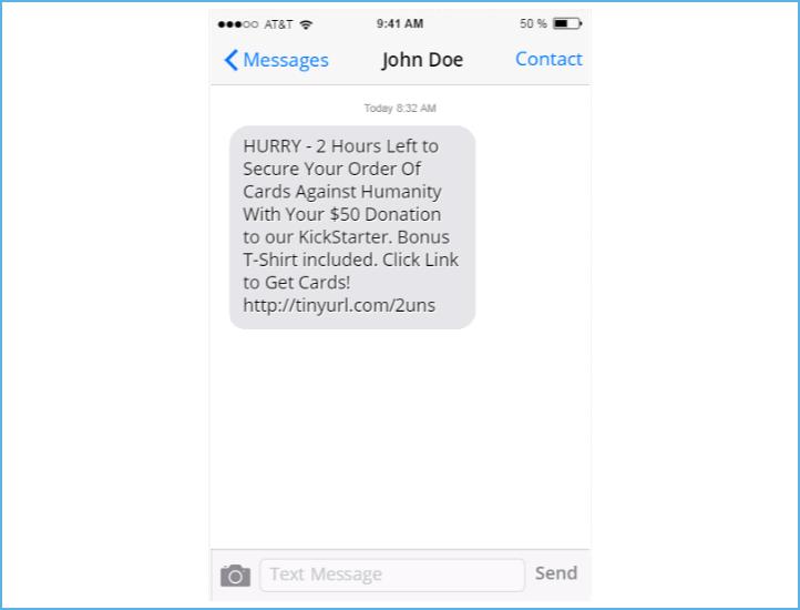 KickStarter Text Example
